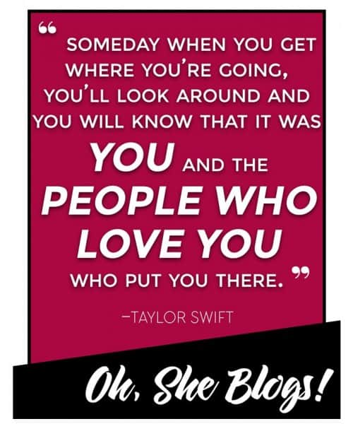 Taylor Swift Quote from the Grammy's