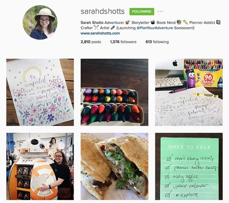 Sarahdshotts is a great Instagram storyteller.