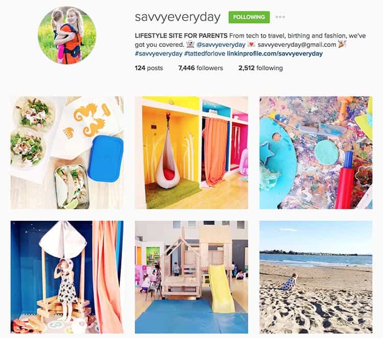 Savvy Everyday does a great job telling stories with her Instagram feed.