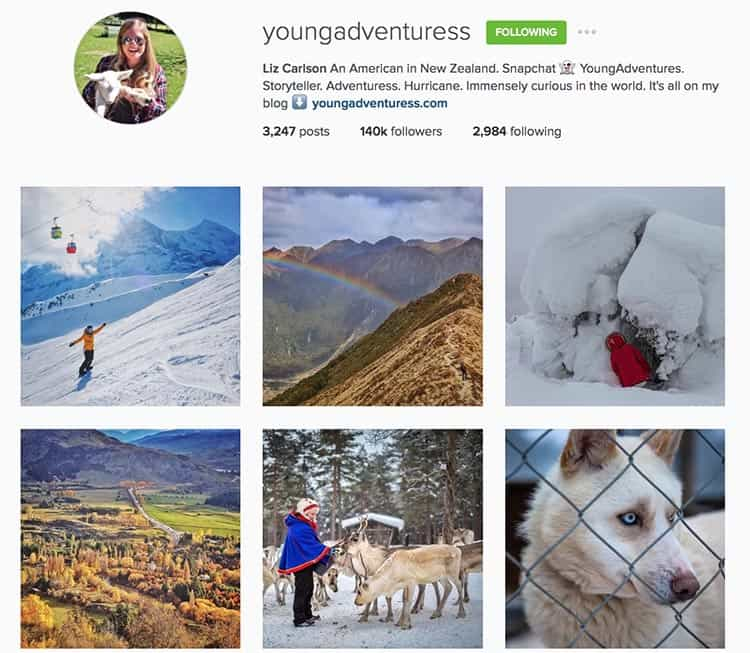 Young Adventuress on Instagram