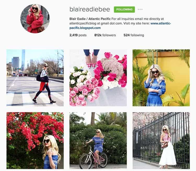 Blair Eadie Bee on Instagram