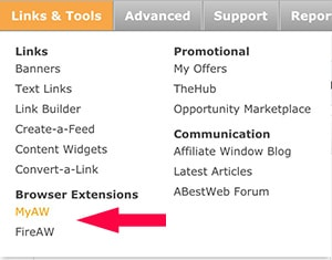 Affiliate Window Browser Extension
