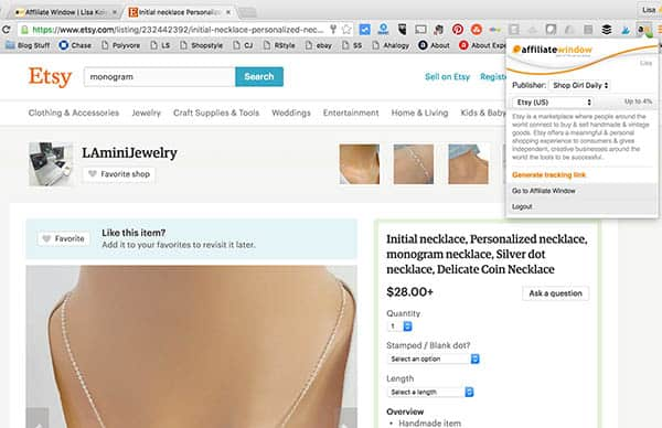 How to use the affiliate window browser extension