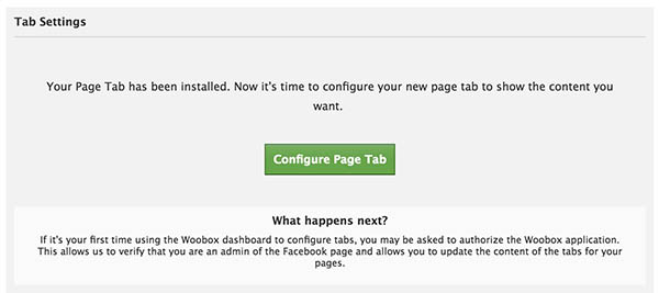 Configure Facebook Tab