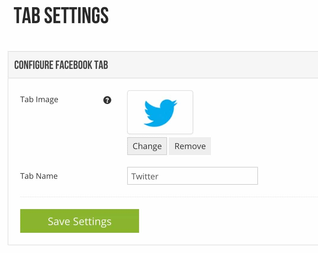 Tab Settings in Woobox