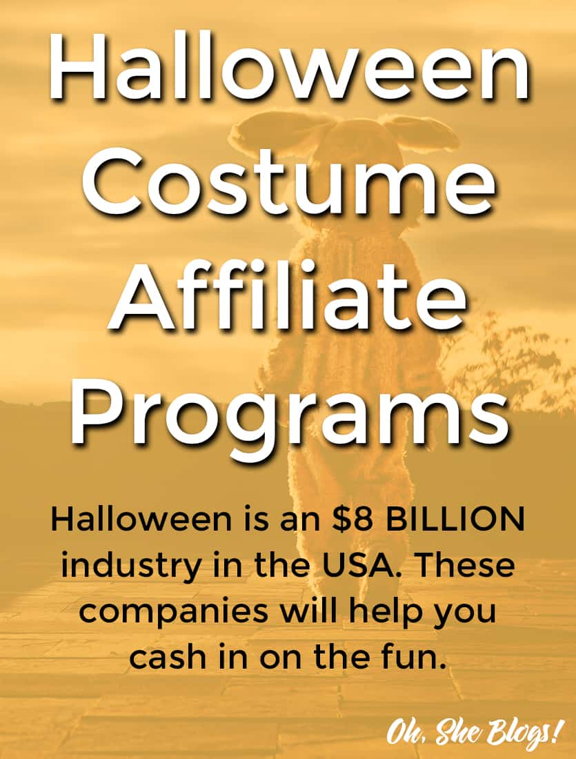 Halloween Costume Affiliate Programs | Oh, She Blogs!