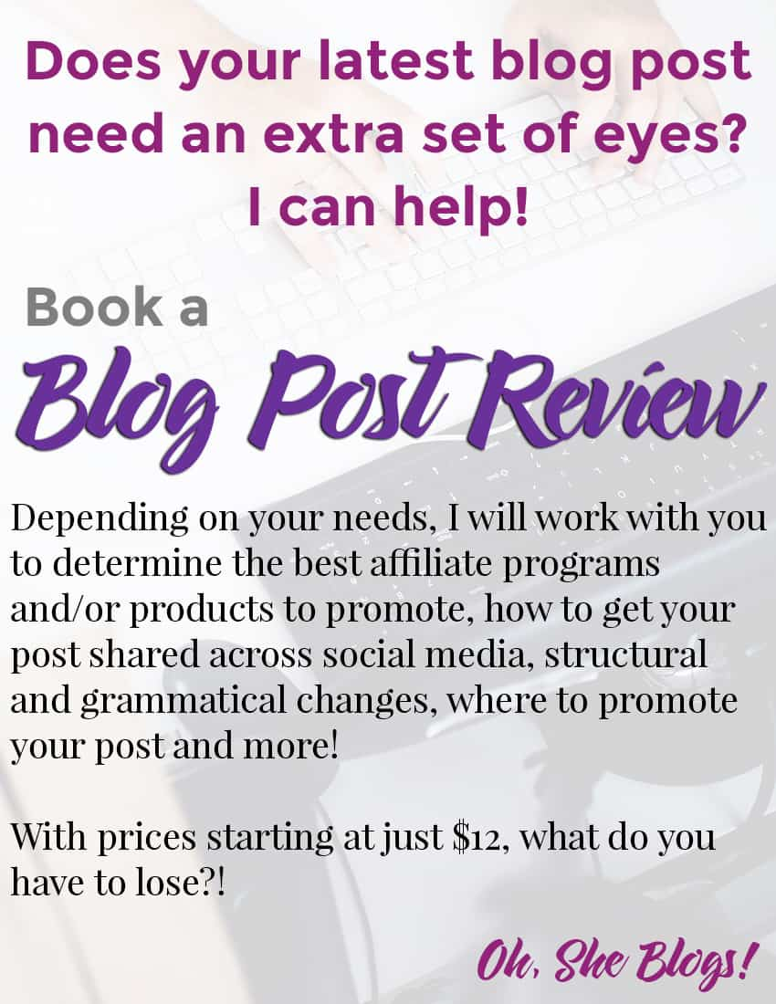 Need help making sure your latest blog post is in tip top shape? Book a blog post review!