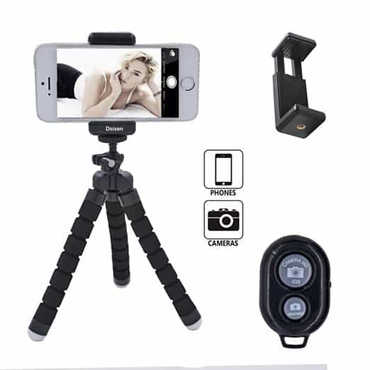 Octopus Style Portable and adjustable Tripod Stand Holder for iPhone