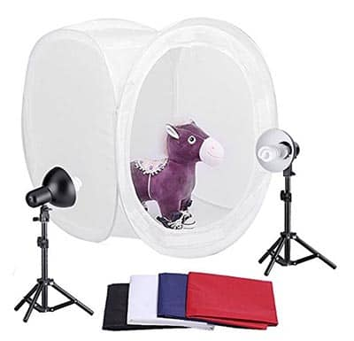 Photo Tent with Studio Lights