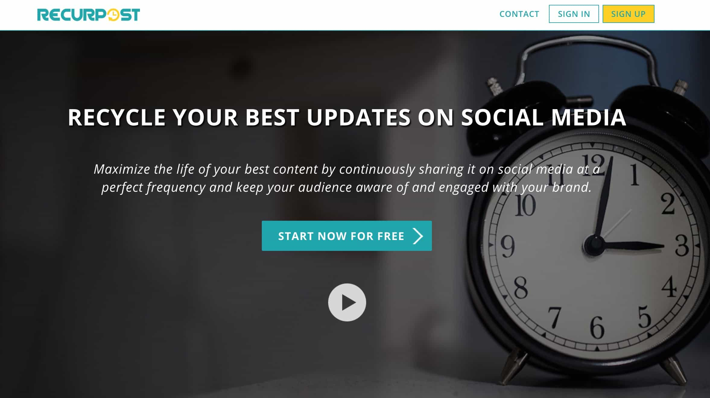 Recurpost: Social media scheduler