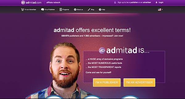 Registering for Admitad