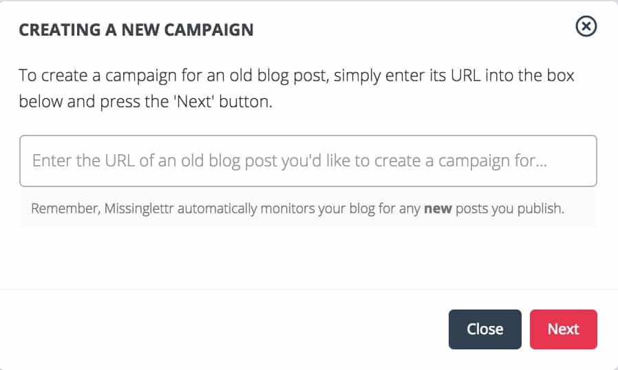 Manually add blog posts to MissingLettr