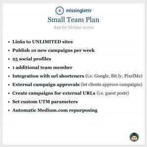 MissingLettr Appsumo deal