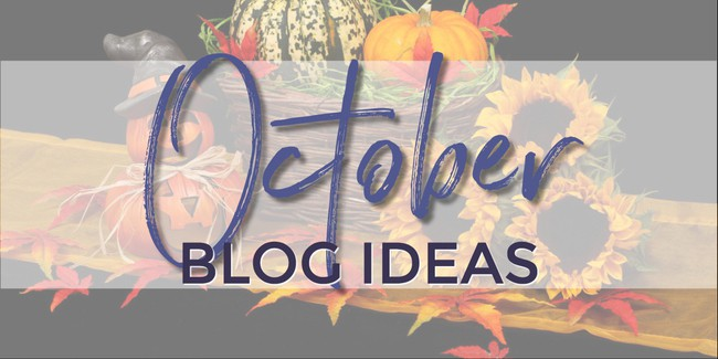 What to write about in October