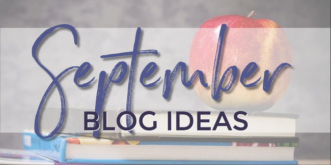 What to write about in September
