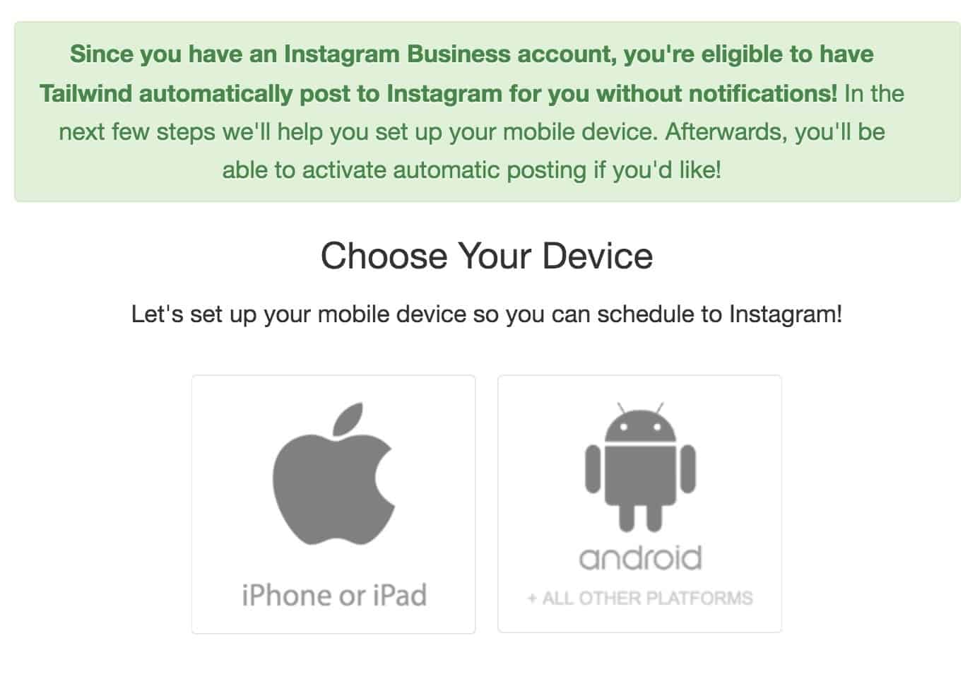 Choose your device for Tailwind