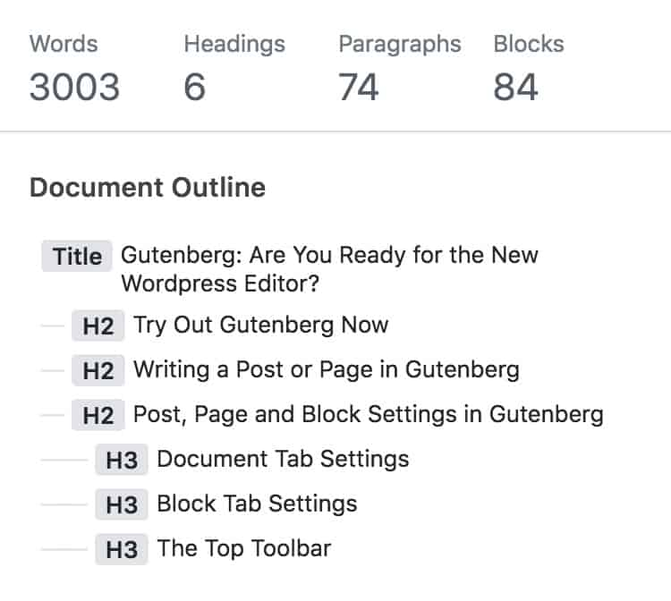 Gutenberg information block