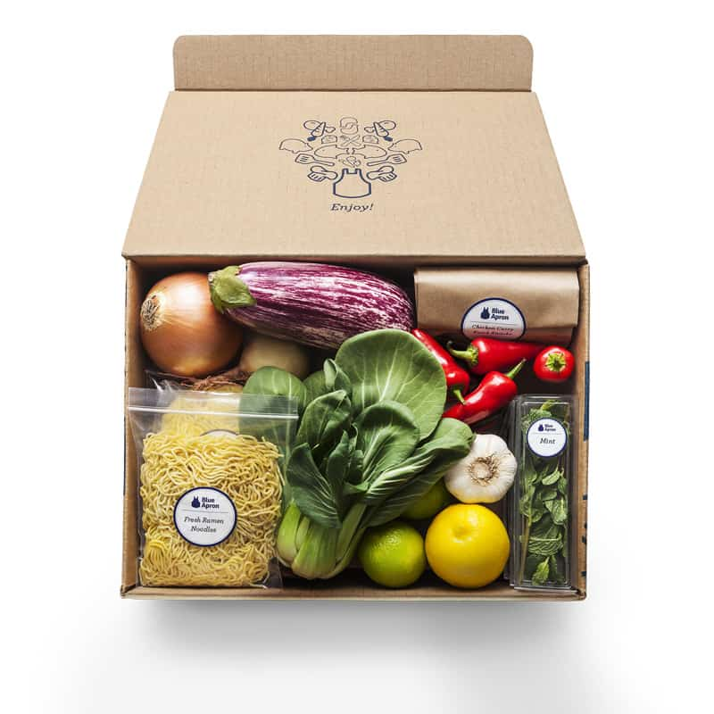 A Blue Apron subscription would be a great gift for a blogger